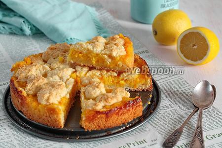 Лимонно-апельсиновый пирог из сметанного теста