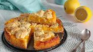 Фото рецепта Лимонно-апельсиновый пирог из сметанного теста