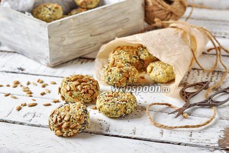 Постное печенье с семечками