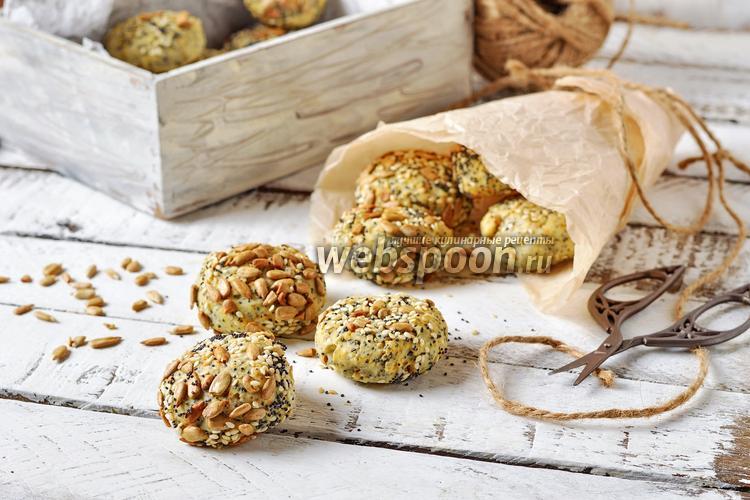Фото Постное печенье с семечками