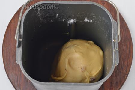А после сигнала бипера, добавить промытый и просушенный изюм (1,5 ст. л.). Оставить тесто в хлебопечке до окончания программы «Тесто».