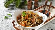 Фото рецепта Куриные желудки тушёные с грибами