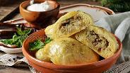 Фото рецепта Вареники с картошкой и печенью