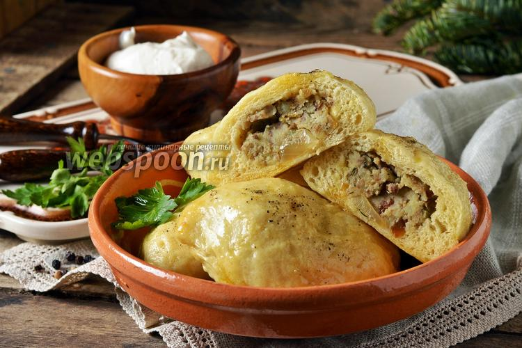 Фото Вареники с картошкой и печенью