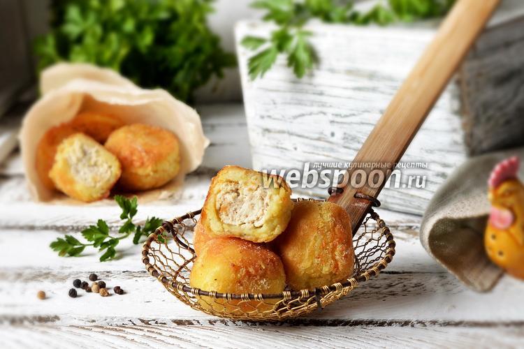 Фото Картофельные крокеты с куриным фаршем
