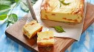 Фото рецепта Творожная запеканка с персиками