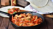 Фото рецепта Фахитос с индейкой и болгарским перцем за 10 минут