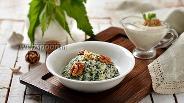 Фото рецепта Салат из крапивы с ореховым соусом