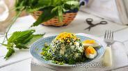 Фото рецепта Салат из крапивы и яиц