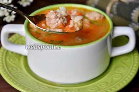 Подавать суп посыпав зеленью.