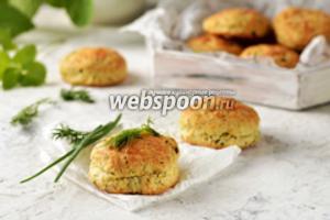 Сконы с сыром и зеленью
