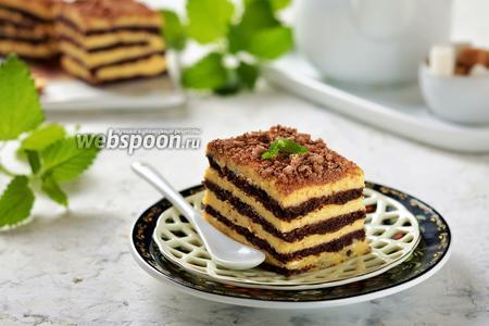 Песочный торт с творожным кремом