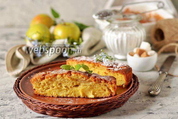 Фото Яблочный пирог со сливками