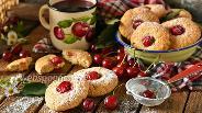 Фото рецепта Овсяное печенье с вишней