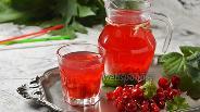 Фото рецепта Компот из вишни и красной смородины