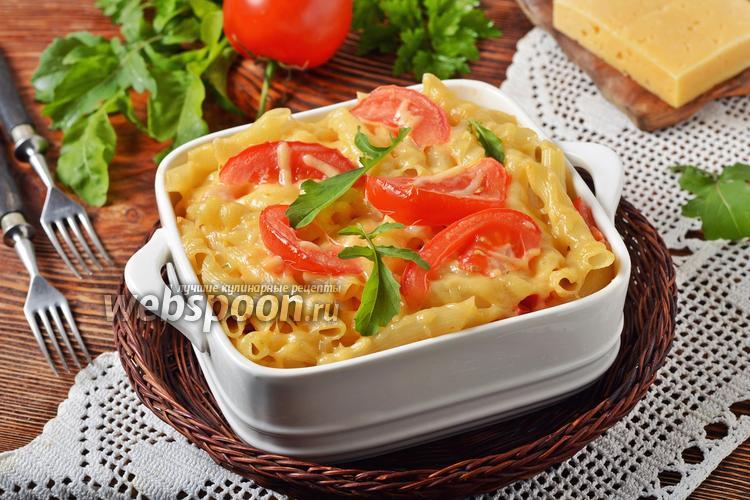 Фото Макароны, запечённые с помидорами под сыром