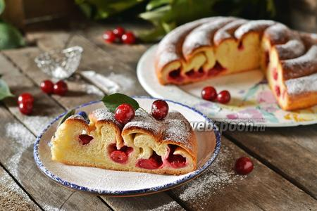 Пирог «улитка» с вишней