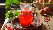 Фото рецепта Компот из красной смородины и яблок