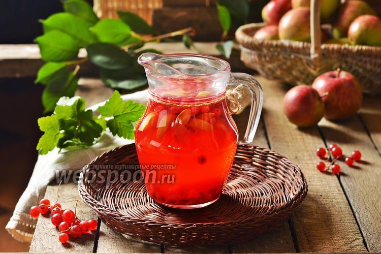 Фото Компот из красной смородины и яблок