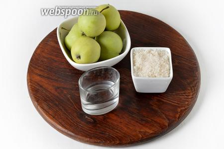 Для работы нам понадобятся яблоки Белый налив, сахар, столовый 9% уксус.