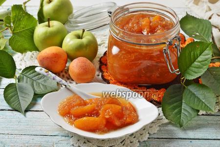 Варенье из абрикосов и яблок