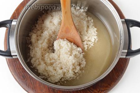 80 мл воды соединить с 750 граммами сахара.