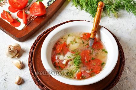 Картофельный суп с помидорами