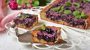 Фото рецепта Пирог с черникой и сметанной заливкой
