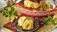Фото рецепта Творожные пирожки с луком и яйцом