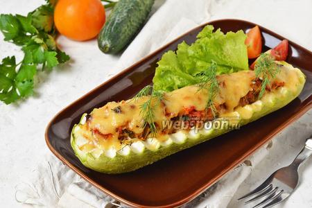 Кабачки запечённые с овощами