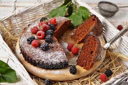 Пирог с вареньем на сковороде