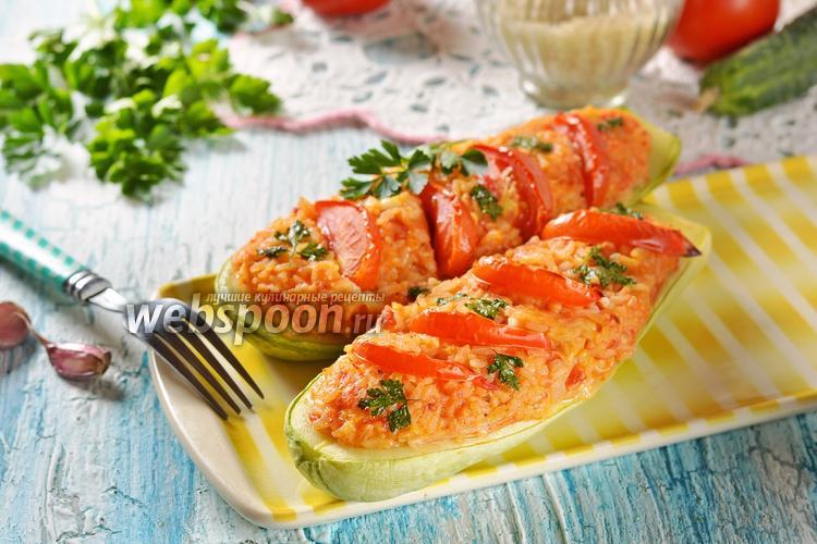 Фото Кабачки фаршированные рисом и овощами