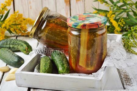 Огурцы с томатным соусом на зиму