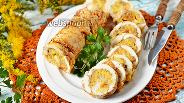 Фото рецепта Рулет из куриных грудок с овощами и сыром