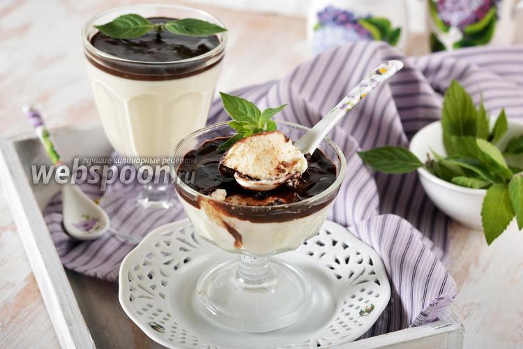 Фото Десерт «Птичье молоко» из сметаны