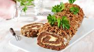 Фото рецепта Печёночный рулет с сыром