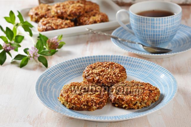 Фото Кунжутное печенье без муки