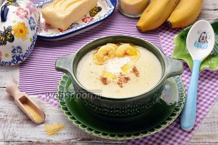 Кукурузная каша с бананом