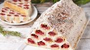 Фото рецепта Сметанный торт «Монастырская изба» с вишней