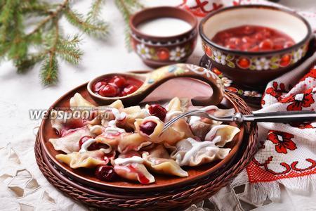 Вареники с замороженной вишней