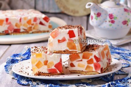 Торт «Битое стекло» с печеньем