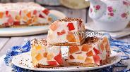 Фото рецепта Торт «Битое стекло» с печеньем