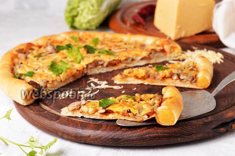 Фото Пицца с сырным бортиком