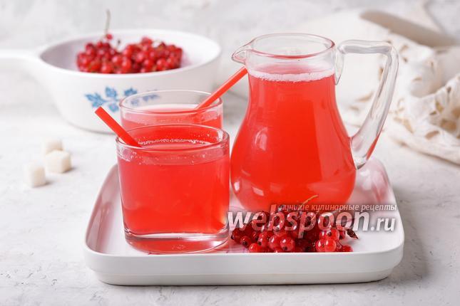 Фото Компот из замороженной красной смородины
