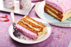 Медово-творожный торт