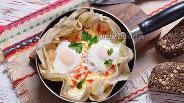 Фото рецепта Яичница на лаваше