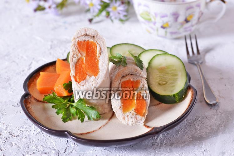 Фото Рулетики из куриного филе с тыквой