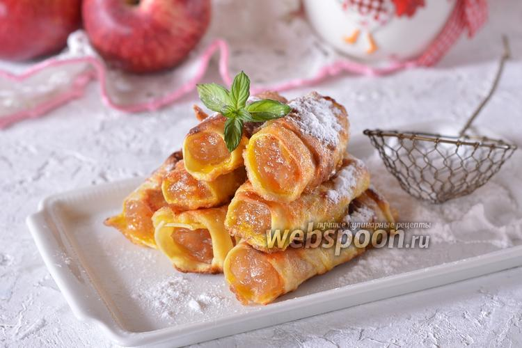 Фото Пирожки с яблоками из лаваша на сковороде