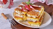 Фото рецепта Лаваш с творогом и яблоками на сковороде