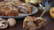 Фото рецепта Грушевый пирог с шоколадом и орехами